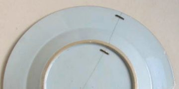 Early Qing Plate With Rivets