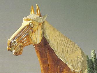 Restoration of Glazed Pottery Horse