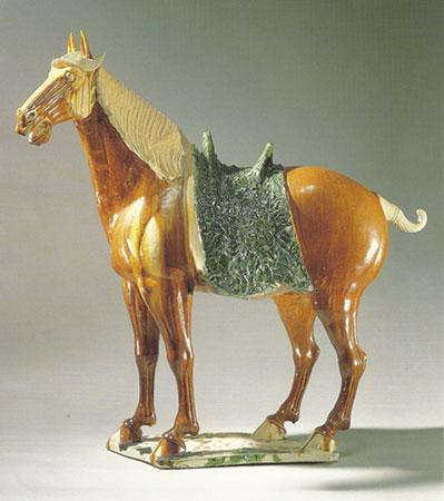 Glazed Pottery Horse